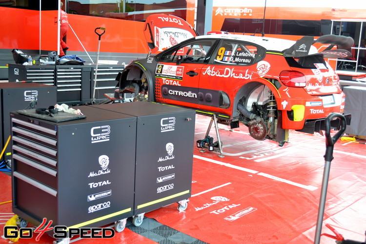 Polijas WRC servisa parks un Tanaka atbalstītāju pūļi