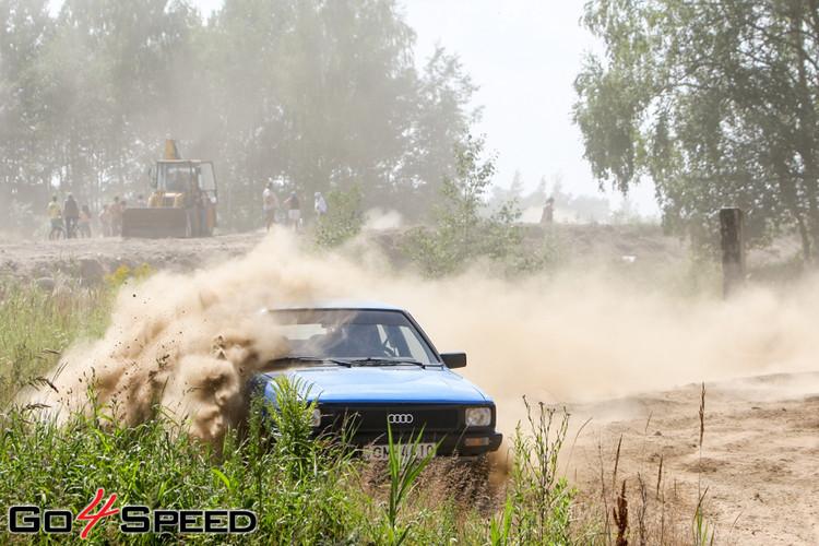 Karstums un putekļi rallija supersprinta 4.posmā Jelgavā