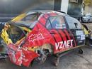 VIDEO: Krievu ekipāža iznīcina 'Mitsubishi Lancer Evo IX'
