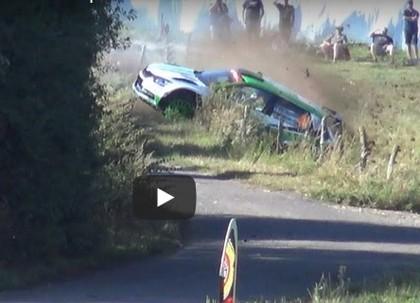 VIDEO: Rovanpera Vācijas WRC treniņos noskrien no ceļa