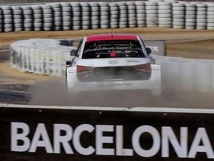 VIDEO: Nitišs aizvada pirmos testus ar 'Audi S1 EKS RX Quattro'