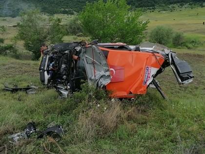 VIDEO: Turku ekipāža piedzīvo šaušalīgu avāriju