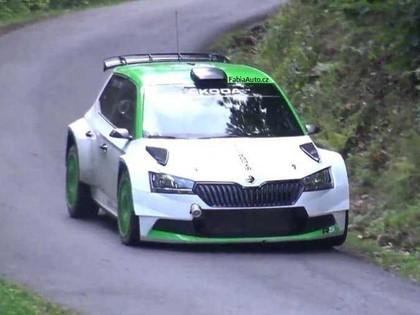 VIDEO: Rovanpera testē jauno 'Škoda Fabia R5'