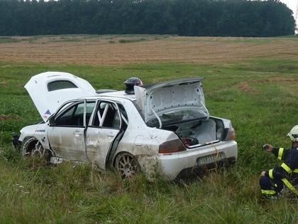FOTO: Ukraiņu modele testos piedzīvo avāriju