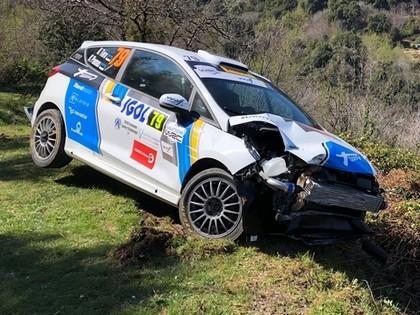 VIDEO: Kens Torns Korsikas WRC treniņos piedzīvo avāriju
