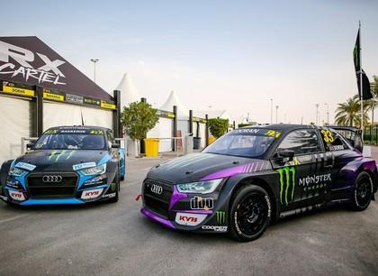 FOTO: Bakeruds un Dorans atrāda savas Audi automašīnas