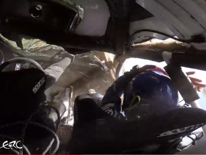 VIDEO: Poļu ekipāža lielā ātrumā piedzīvo šaušalīgu avāriju