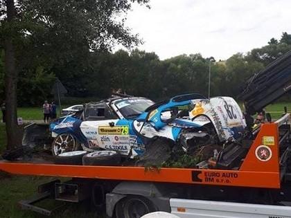 VIDEO: Itāļu sportists Čehijas ERČ rallijā piedzīvo smagu avāriju