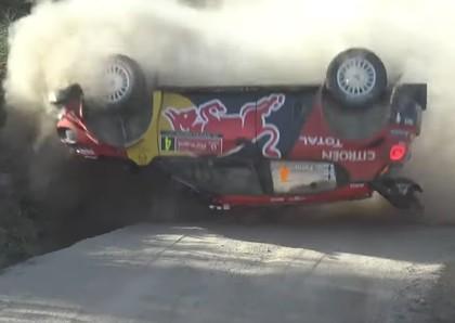 VIDEO: Lapi kūleņo, Grīnsmitam debija pie WRC auto stūres beidzas ar avāriju