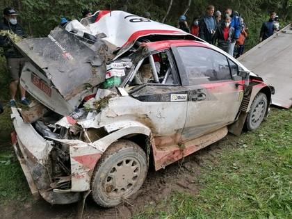 VIDEO: Japāņu sportists 'Rally Estonia' piedzīvo smagu avāriju