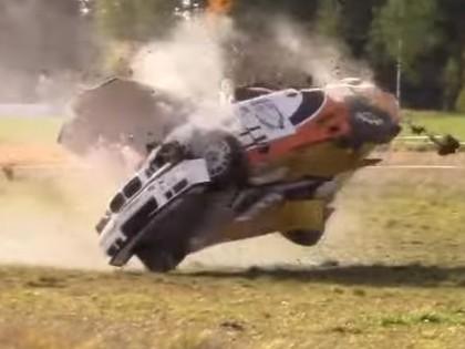 VIDEO: Somijas rallija čempionāts noslēdzas ar vairākām avārijām