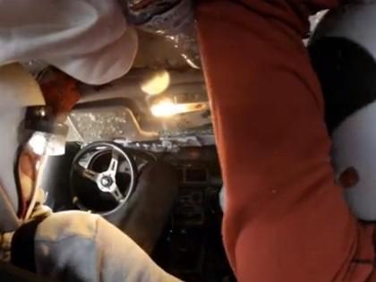 VIDEO: Brauns minirallijā 'Madona' uzmet kūleni
