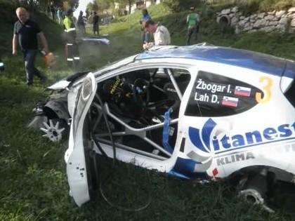 VIDEO: Slovēņu ekipāžas šausminošā avārija