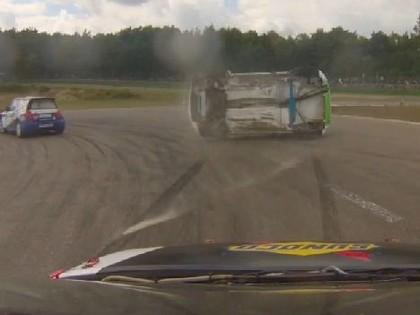 VIDEO: Avārija acu priekšā