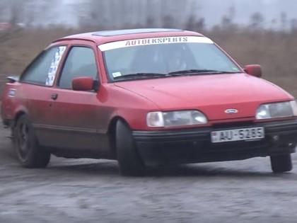 VIDEO: Kurzemes ziemas kausa 2.posmā vairākas sagriešanās