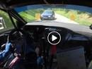 VIDEO: Rallija ekipāžu trasē negaidīti pārsteidz pretim braucoša automašīna