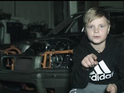 VIDEO: HGK komanda 11 gadus vecam talantam būvē drifta auto