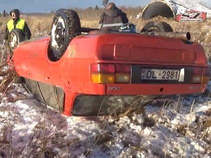 VIDEO: Kurzemes ziemas kausa 1.posmā sportists uzmet kūleni