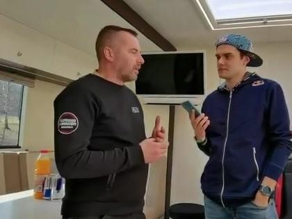 VIDEO: Grjazins izrāda SRT komandas tehniskā atbalsta automašīnu
