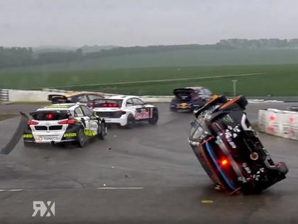 VIDEO: Beļģijas RX posmā vairākas avārijas