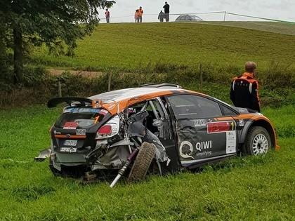 VIDEO, FOTO: Lukjaņuks un Sesks Polijas ERC piedzīvo avārijas