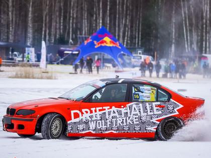 VIDEO: 'Baltic ice race' drifta sacīkstēs uzvaras izcīna Bertāns un Valters