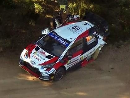 VIDEO: Rovanpera Sardīnijas WRC rallijā piedzīvo vēl vienu avāriju