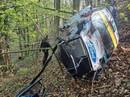 VIDEO: JWRC čempionam Kristensonam debijā smaga avārija, Grjazins finišē uz jumta