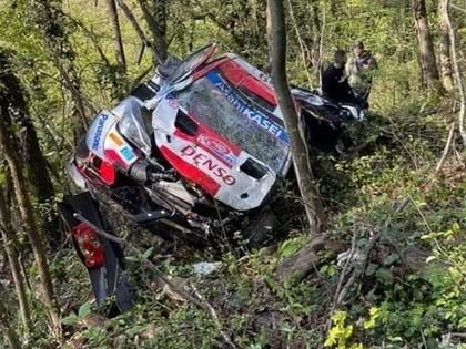 VIDEO: Rovanpera piedzīvo iespaidīgu avāriju jau pirmajā ātrumposmā