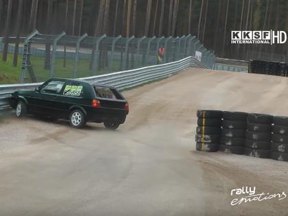 VIDEO: 'Verifone RX Challenge' posmā Biķerniekos vairākas sagriešanās