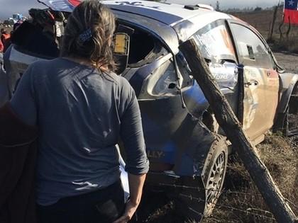 VIDEO: Ekipāža Čīles WRC piedzīvo iespaidīgu avāriju