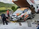 VIDEO: Plānotā debija pie 'Citroën DS3 WRC' stūres beidzas ar avāriju Vācijas WRC testos