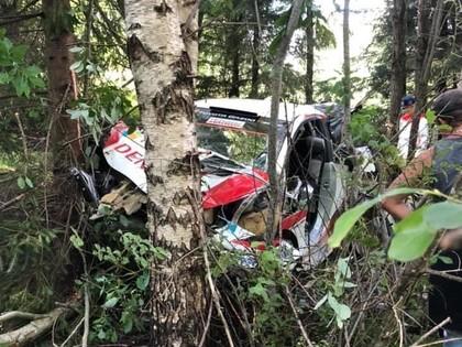 VIDEO: Evans Igaunijas rallijā iznīcina 'Toyota Yaris WRC'