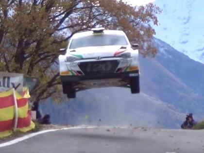 VIDEO: Jaunais 'Hyundai i20 R5' asfalta rallijā veic iespaidīgu lēcienu