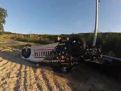 VIDEO: Lietuvieša drifts beidzas ar pamatīgu kūleni