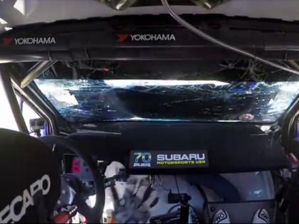 VIDEO: Oliveram Solbergam pie 200 km/h liela ātruma atveras motora pārsegs