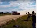 VIDEO: Lapi 'Rally Estonia' padodas iespaidīga sānslīde