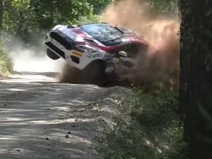 VIDEO: Igaunijas WRC iespaidīgie tramplīni