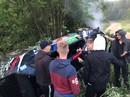 VIDEO: Sarmas ekipāža 'Louna Eesti' rallijā piedzīvo avāriju