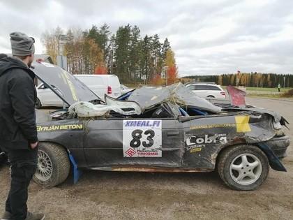 FOTO, VIDEO: Somijas rallijos vairākas smagas avārijas