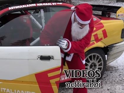 VIDEO: Kad Ziemassvētku vecītis tiek pie 400 ZS jaudīga 'BMW M3'