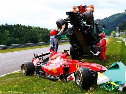 Raikonena un Alonso avārija Austrijas F1 posmā - dārgākā šajā sezonā (VIDEO)