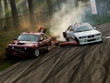 Drifta sezonas atklāšanā divi kūleņi, uzvar lietuvietis (FOTO)