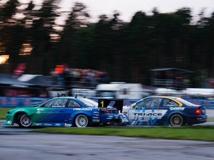 'Drift Allstars' Rīgas posmā uzvar Dīns, Eglīte saglabā otro vietu