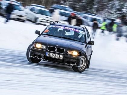 Ziemas driftā Baldonē uzvar igaunis; organizatori plāno vēl jaudīgāku pasākumu