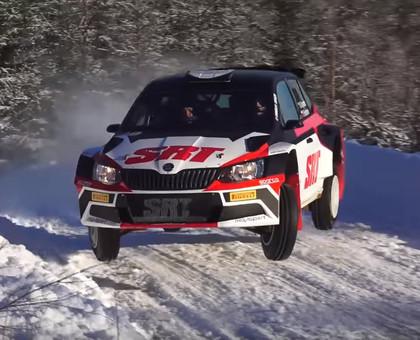 Grjazins Zviedrijas WRC2 testos demonstrē lielisku ātrumu (VIDEO)