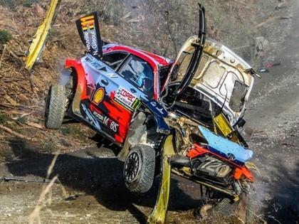 Čīles WRC vadībā Tanaks, Noivilam smaga avārija (VIDEO)