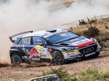 Lēbs Francijas rallijā ar 'Hyundai i20 R5' no 42.vietas aizcīnās līdz piektajai pozīcijai