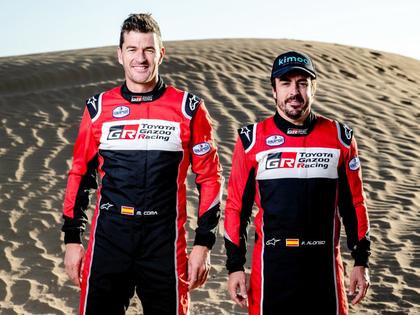Divkārtējais F1 pasaules čempions Alonso pirms debijas Dakaras rallijā izcīna 3.vietu