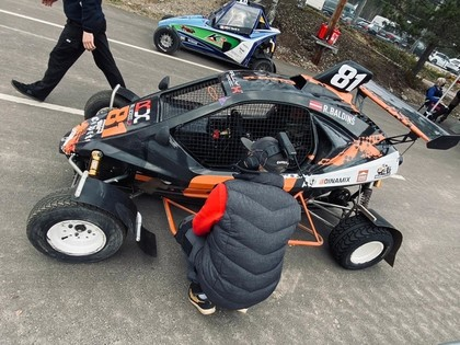 Baldiņam otrā vieta 'RallyX Nordic' 3.posmā, Nitišs ceturtais